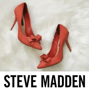 Steven by Steve Madden | Bow Detail Coral Heels